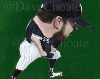 Chicago White Sox, Carlos Rodon Art Photo Print from Original Painting