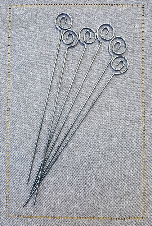 Metal Shish Kabob Skewer Set Classic Essential Spiral series image 0