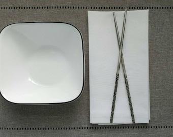 Metal Chopsticks - Hand Forged, decorative chopsticks, steel chop sticks, Asian inspired gift, hand made chopsticks