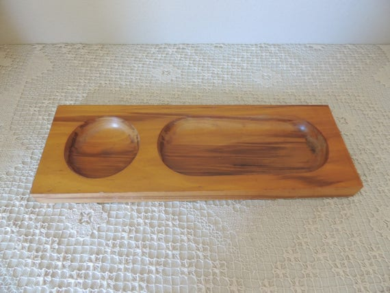 Wood Money Tray. Jewelry, Coin, Key Catch All. Woo