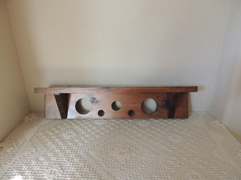 Houten Plank Voor Aan Muur.Houten Vijf Gaten Wand Plank Hand Vervaardigde Etsy