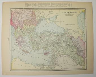 Balkan peninsula map | Etsy