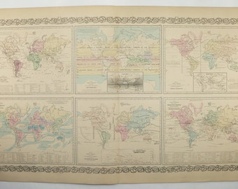 Vintage Looking World Map.World Map Vintage Etsy Ca