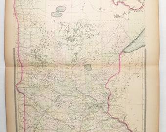 Minnesota map | Etsy