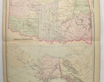 Indian Territory Map Etsy - Us-indian-territory-map