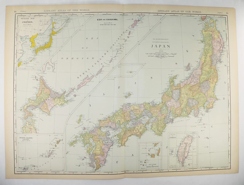 1912 Very Large Map of Japan, Vintage Japan Map, Taiwan Map, Japanese Y Atlan United States Map on canada map, florida map, europe map, caribbean map, nevada map, mexico map, africa map, 13 colonies map, tennessee map, us state map, the us map, texas map, full size us map, the world map, great lakes map, arkansas map, missouri map, east coast map, blank map, mississippi map,