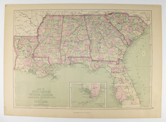 1873 Antique Florida Map, Georgia South Carolina Map, Louisiana Mississippi on lexington georgia map, satilla river georgia map, scottsdale georgia map, abbeville georgia map, bibb county georgia map, antebellum georgia map, show counties in georgia map, ogeechee river georgia map, asheville georgia map, united states map, dover georgia map, ga rome georgia map, surrency georgia map, florida georgia map, lakemont georgia map, irwinton georgia map, northwestern georgia map, goose creek georgia map, north carolina map, evans county georgia map,