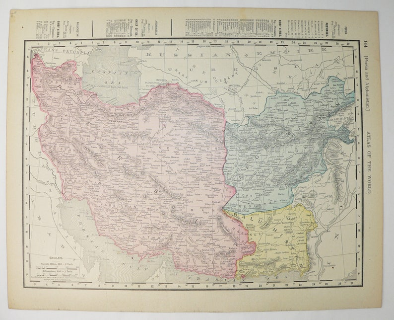 1900 Middle East Map.1900 Middle East Map Iran Vintage Map Persia Afghanistan Etsy