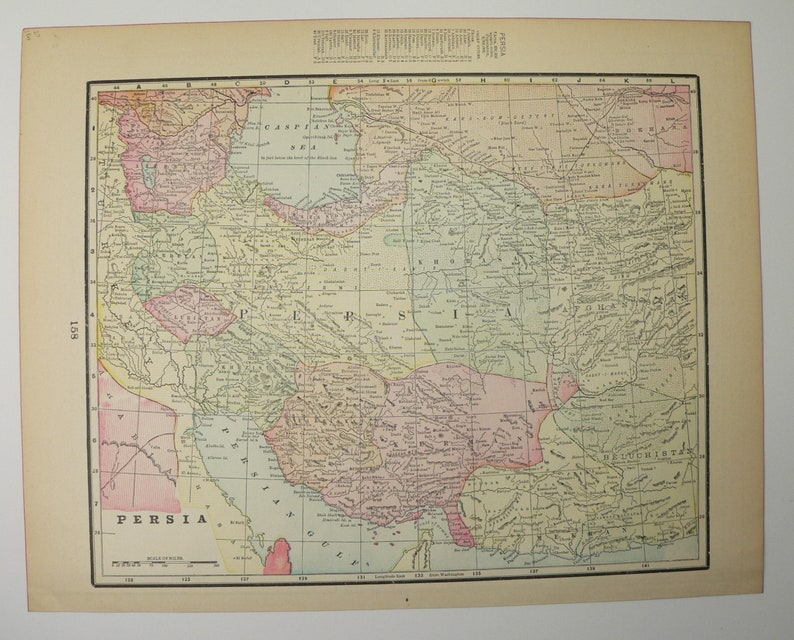 1900 Middle East Map.1900 Persia Map Iran Afghanistan Map Middle East Man Cave Etsy