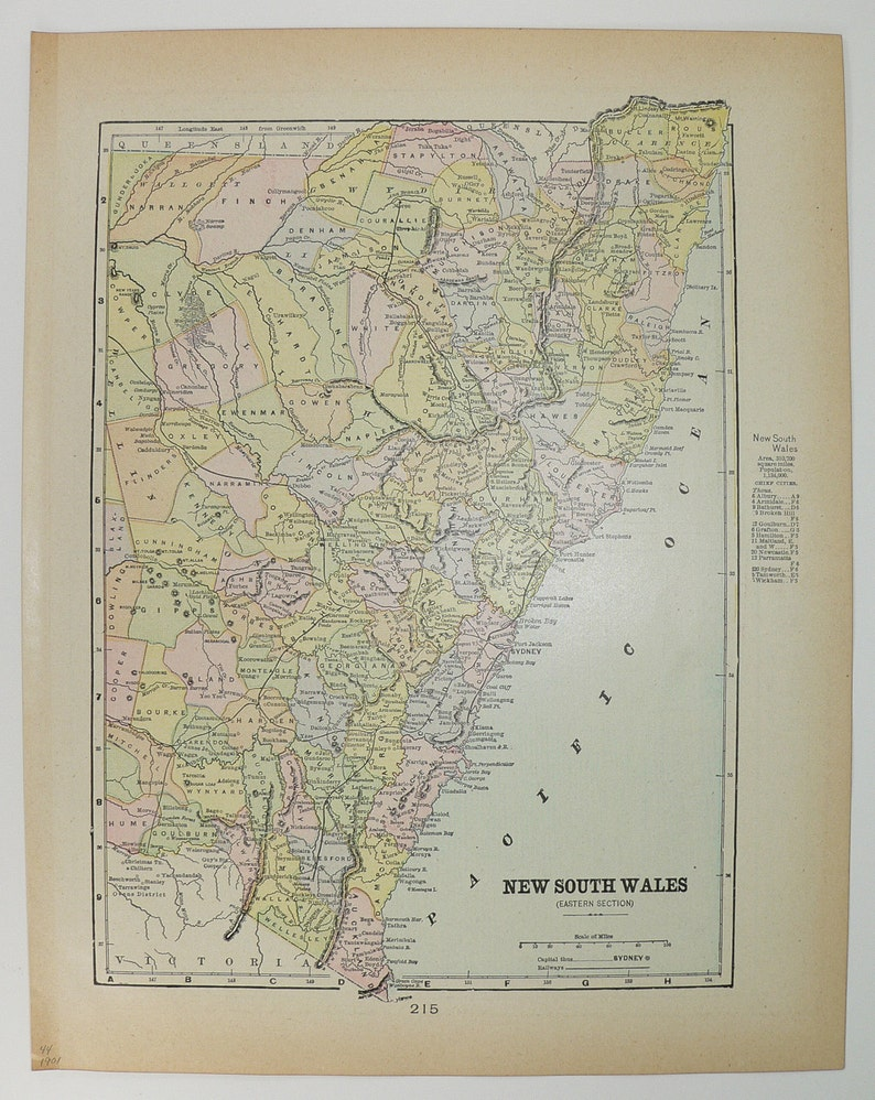 Map Of Australia 1901.1901 Map New South Wales Victoria Map Queensland Vintage Map Nsw Australia Map Genealogy Gift Wedding Decor Prop Australian Decor Art