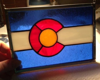 Colorado Flag, stained glass