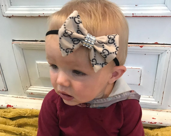 designer inspired Bling hairbow and headband