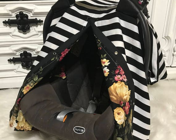 Car seat canopy , leather straps , nursing cover , 2 in 1