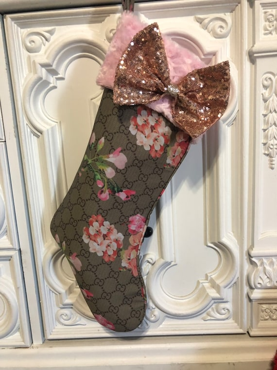 Stunning designer inspired stockings. Comes with detachable rose gold bling bow