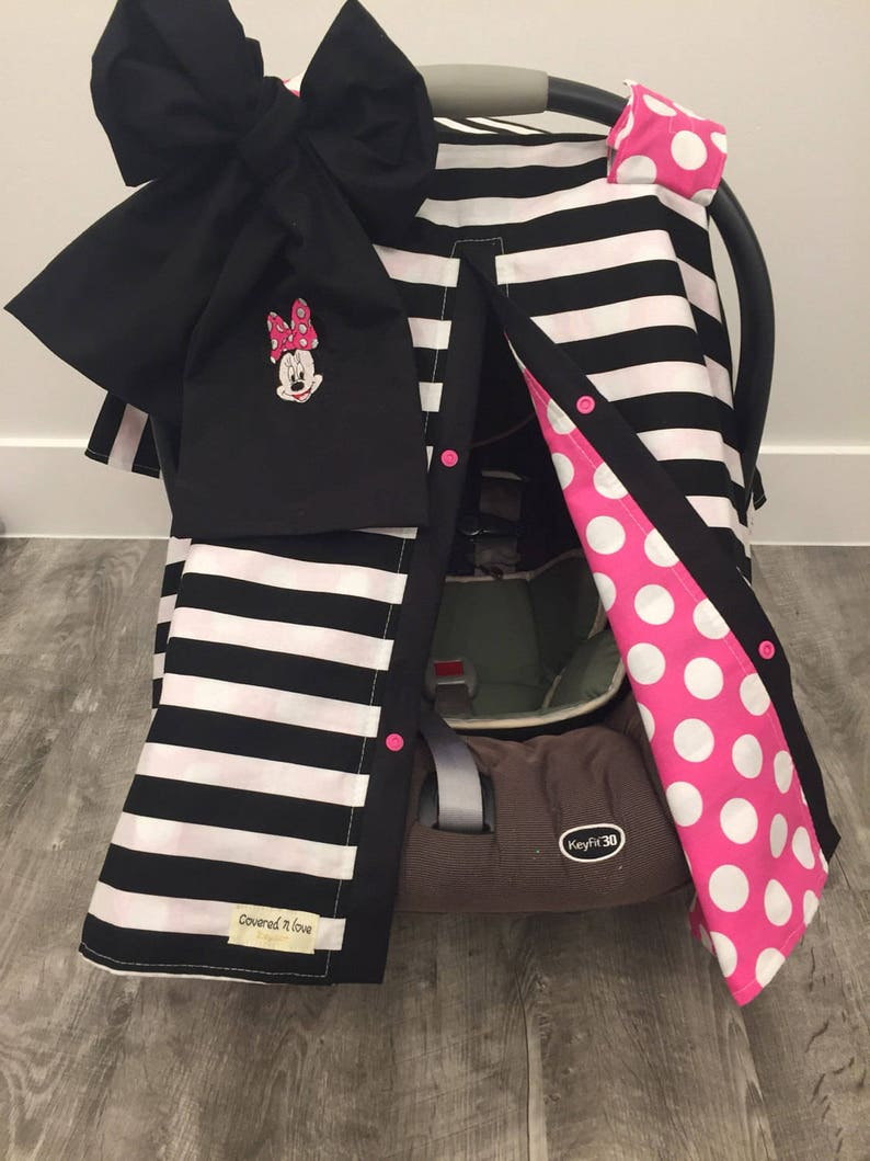 Minnie Mouse Car Seat Canopy Car Seat Cover Carseat Canopy Minnie Mouse Mickey Mouse Disney