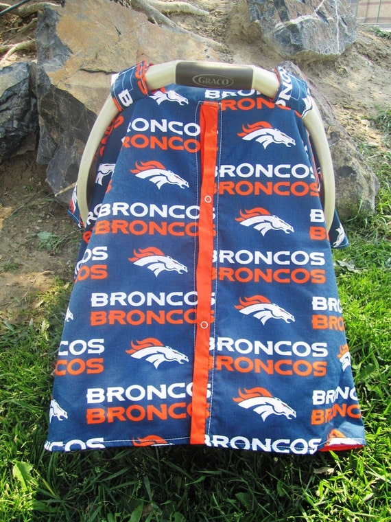 Car seat canopy Denver Broncos  / Car seat cover / car seat canopy / carseat cover / carseat canopy / nursing cover