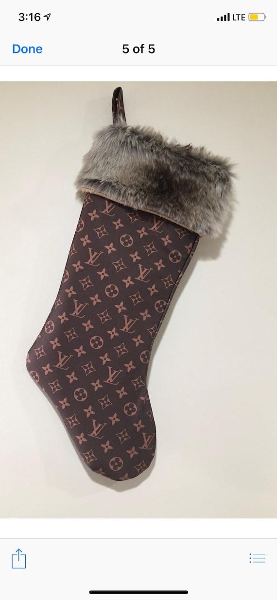 Stunning designer inspired stockings. Beautiful faux fur cuff
