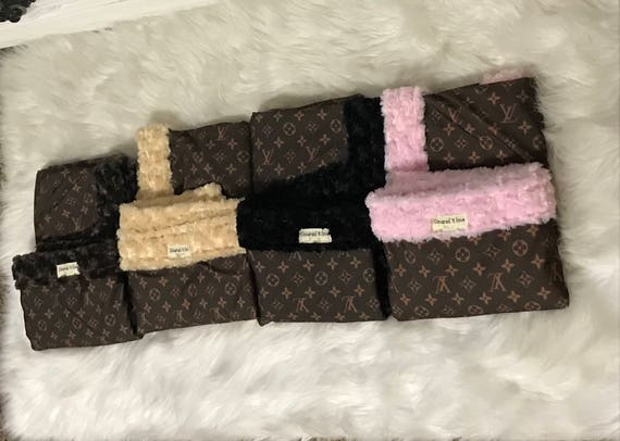 LV Minky Adult Blanket YOU pick minky color