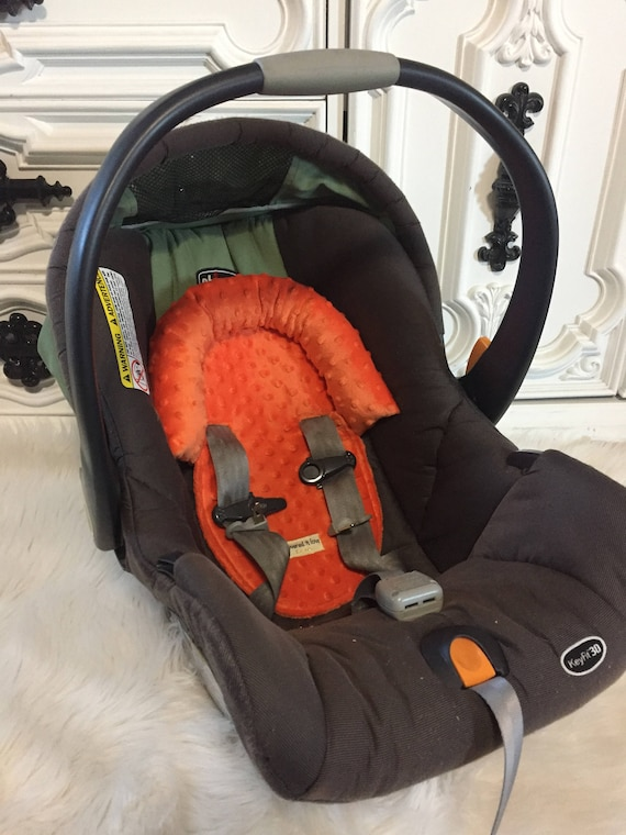 Car seat head support Orange