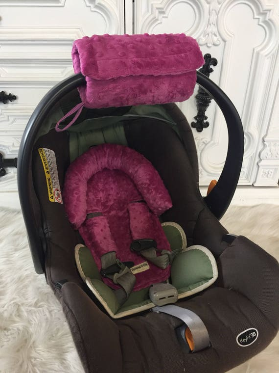 Car seat CUDDLE bundle set in BERRY