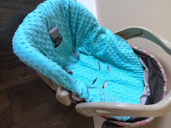 Aqua Minky Dot car seat cover OR you pick color / car seat liner / car seat cover / minky car seat cover / minky seat liner
