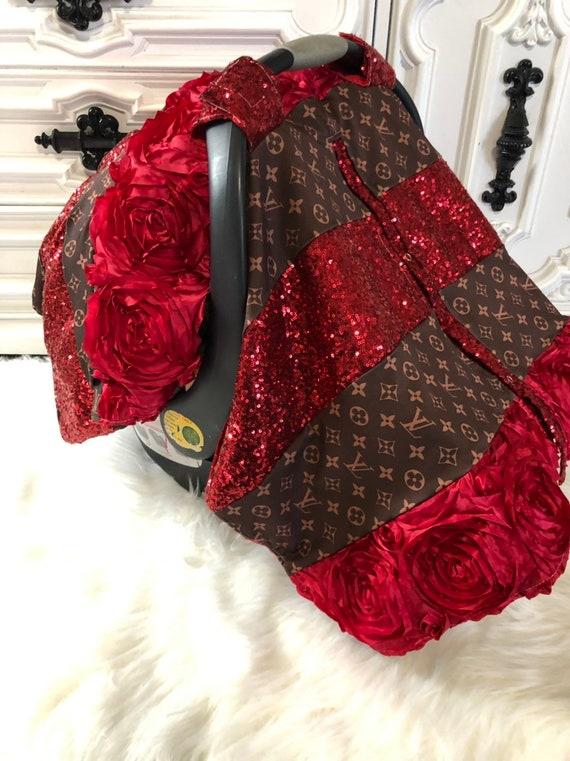 LV inspried custom car seat canopy , car seat cover , LV