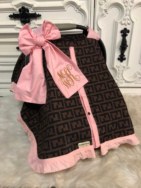 car seat canopy , car seat cover , comes with BOW and Ruffle