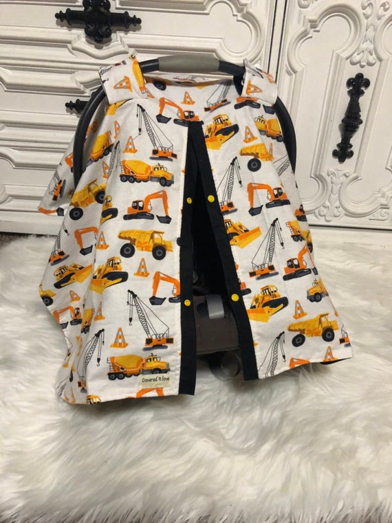 car seat canopy , daddys boy , carseat  cover , tractor