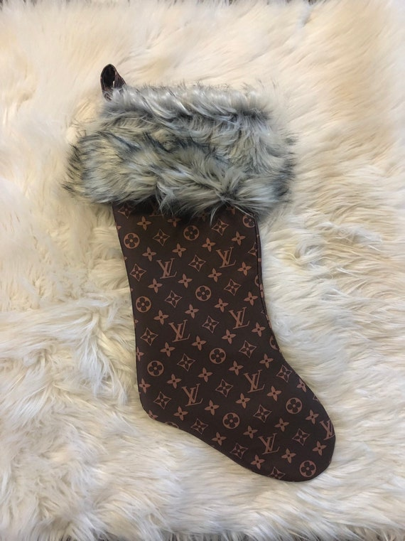 Stunning designer inspired stockings. Beautiful faux fur cuff