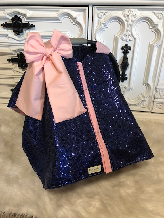 CAR SEAT COVER / car seat canopy / nursing cover / carseat cover / carseat canopy / ooak / sequin / infant car seat cover / sparkle