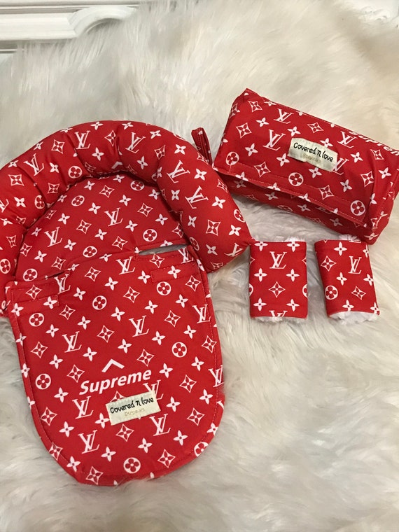 LV cuddle bundle package , you pick accent color , baby head and neck support , arm pad , cheek protectors