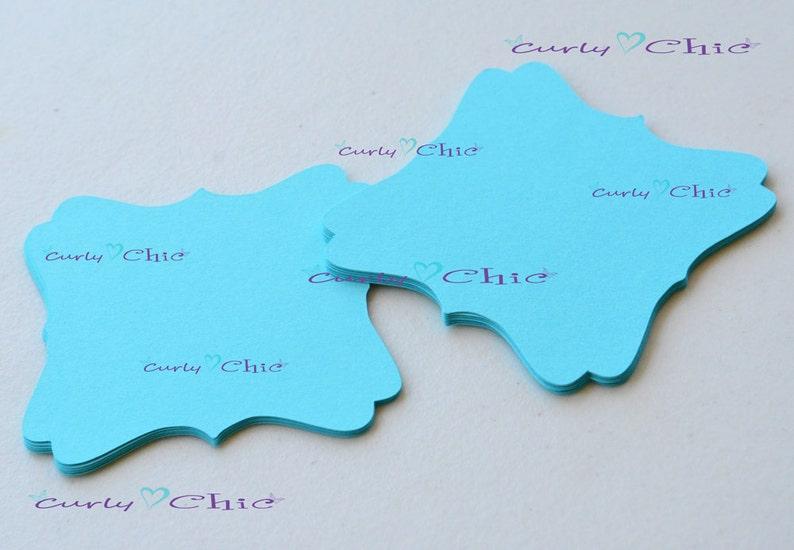 Square Bracket die cuts Paper Labels Cardstock Bracket tags 13 Square Bracket IV Tags Size 2.50 Paper tags Custom die cuts