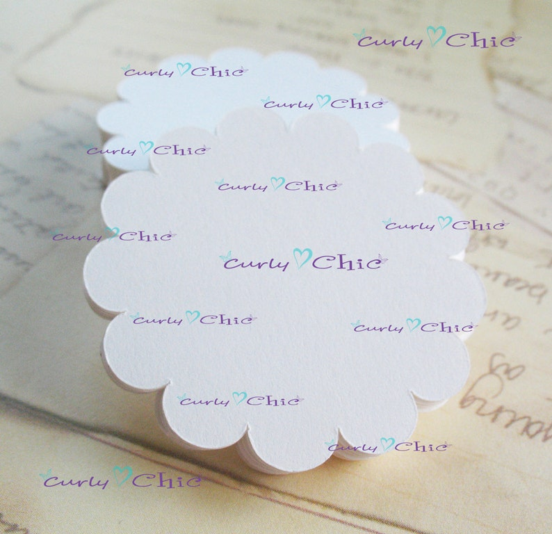 Paper Die cuts 76 Scalloped Circle Tags Size 3.5 Scalloped Circles die cuts Scalloped labels Paper die cuts Cardstock tags