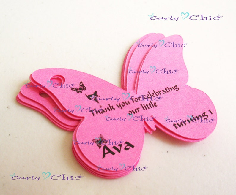 Custom Paper Butterflies die cuts 28 Personalized Butterflies Tags Size 2.50 Custom Butterflies Labels Printed Butterflies Tags