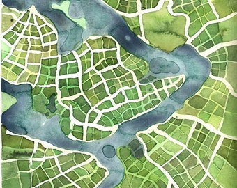 """Print - """"Growing Fields"""" - Imaginary Cartography"""