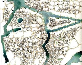 "Print - ""Green Acres (Cityspace 83)"" - Imaginary Cartography"