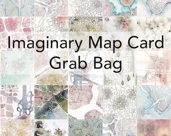 Imaginary Map Card Grab Bag -- free domestic shipping!
