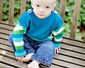 Baby Sweater, Hand Knit, Boys -- WALTER STREET -- Children Clothing -- Great for Fall and Winter Baby Showers
