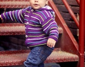 Handknit Baby Sweater for Boys -- BELT ROAD -- Childrens Clothing -- Hoodie