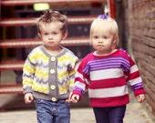 24 Months -- Baby Girl Sweater -- JENIFER STREET -- Pink, Purple, and Gray