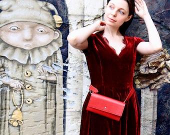 Belt leather bag - Сolor of passion