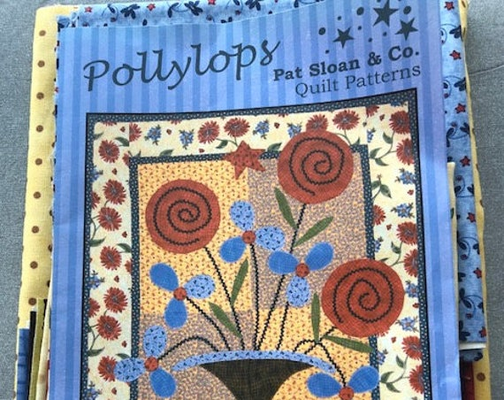 "Polly Lops By Pat Sloan Pattern and Fabric Kit 23"" X 29"" wallhanging"