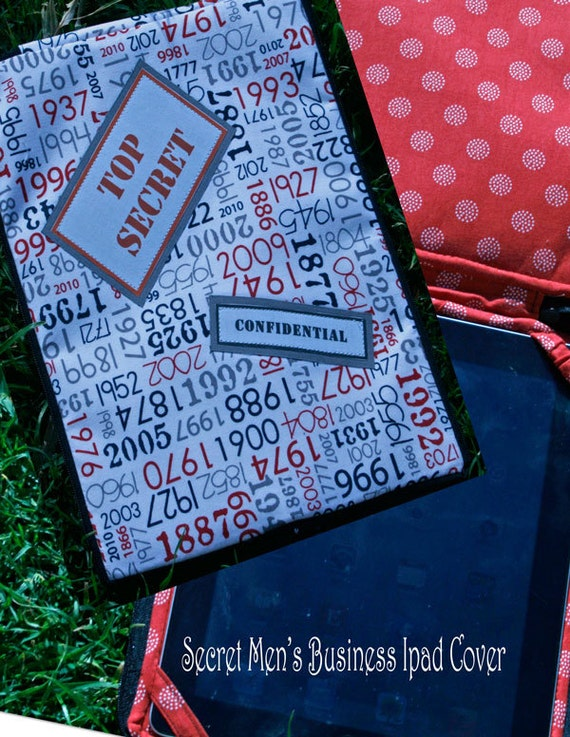 Secret Mens Business iPad Cover Pattern