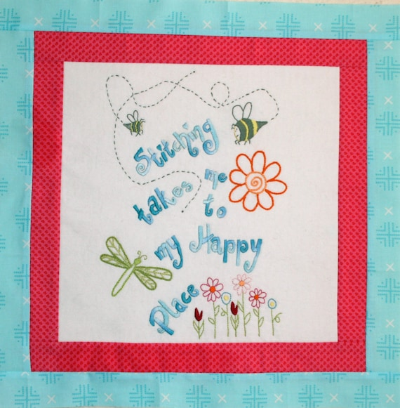 Soul Stitches Quilt BOM Block 5 My Happy Place