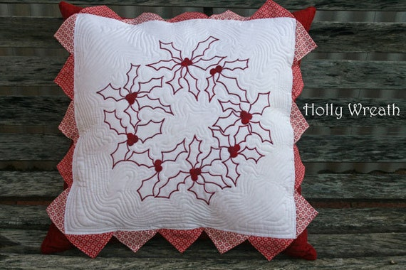 Holly Wreath Cushion Cover Pattern