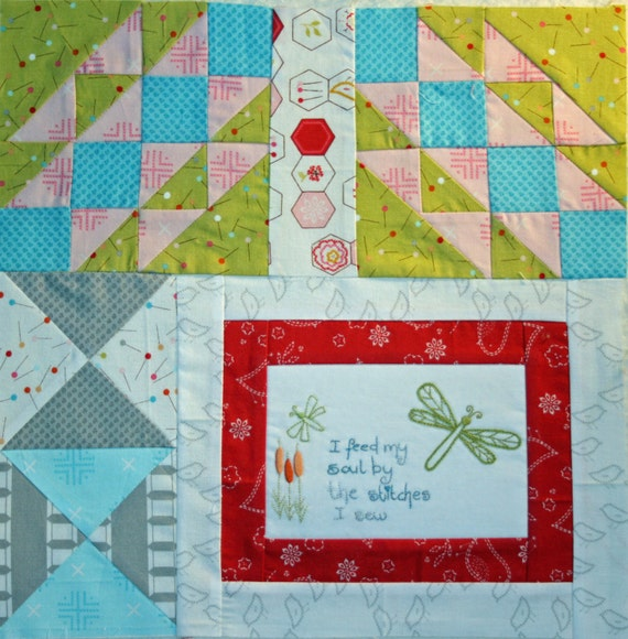Soul Stitches Quilt BOM Block 9 Feed My Soul