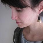 Gold-dipped arrowhead ecofriendly bike tube earrings