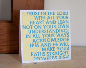 Trust in the Lord: 5x5 folded CARD