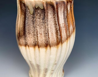 Wood Fired Pottery Tumbler Cup Yunomi by Justin Lambert, One of a Kind and Ready to Ship