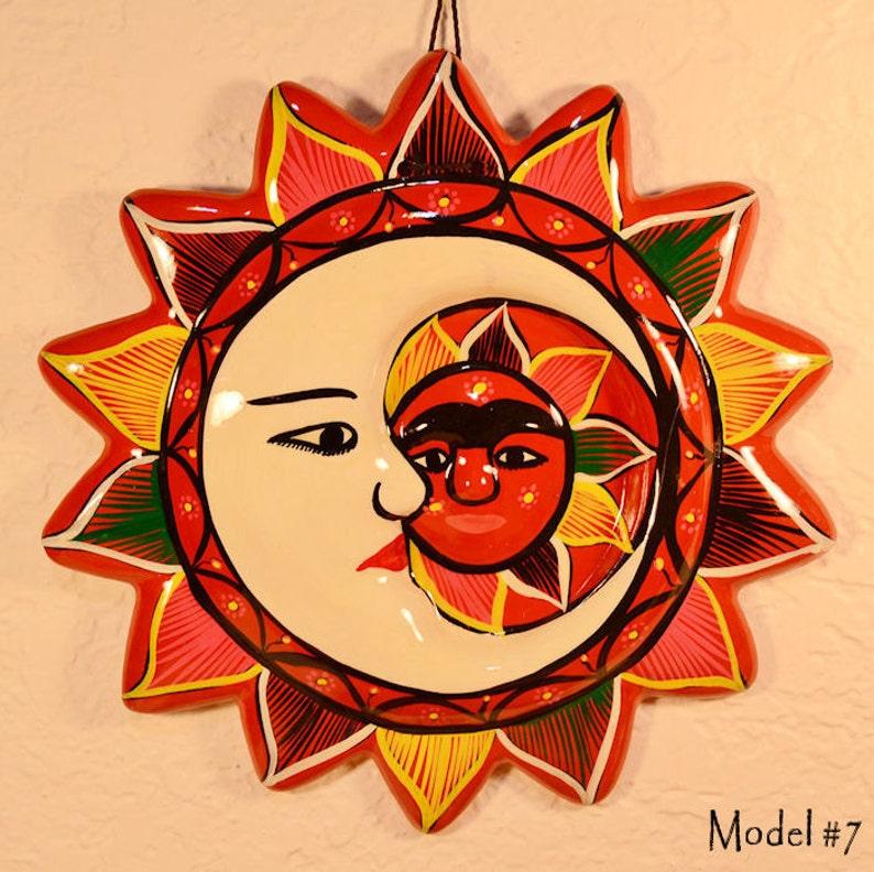 Handmade Ceramic Wall Decor Hanging Eclipse/Sun Model 7